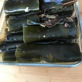 活力鍋でニシンの昆布巻き