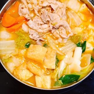 スープも残さず食べきる♪キムチ鍋*西のまるごと鍋