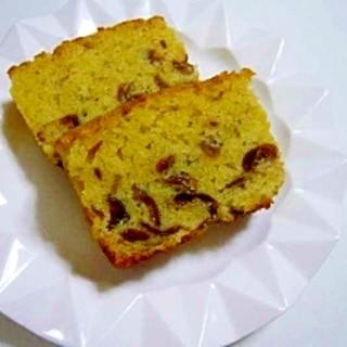 ホットケーキミックスで梅酒の梅入り簡単ケーキ