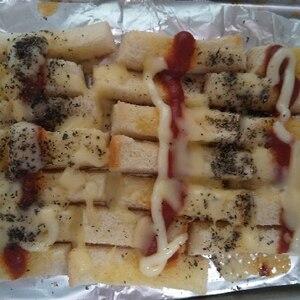 黒すり胡麻と粉チーズのケチャマヨソーストースト