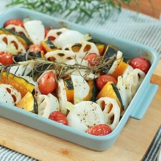 グリラーで、野菜のグリル焼き