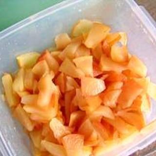 しなびたりんごも捨てないで~レンジで簡単 煮りんご