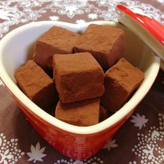 ラム酒たっぷり♥大人の生チョコ