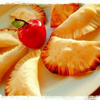 餃子の皮DEヘルシ~♪アップルパイ