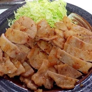 豚ロース肉の粒マスタード焼き