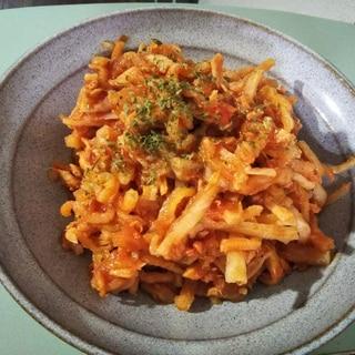 ツナと切干大根のトマト煮