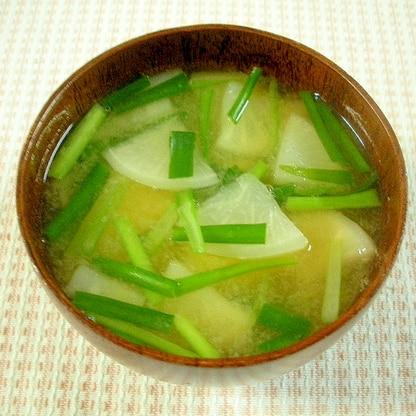 ☆カブとニラの味噌汁☆