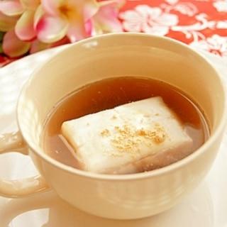 茹であずきでお汁粉♪レンジで簡単に♪(*^-^*)