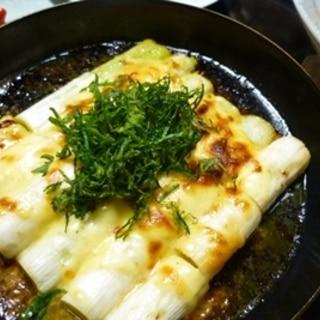 白ネギの味噌マヨチーズ焼き