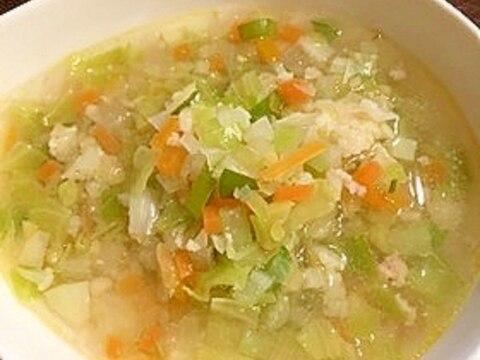 セブンみたいな⭐︎生姜香るもち麦スープ