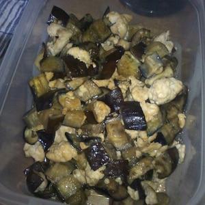 簡単中華風☆茄子と挽き肉の炒め物