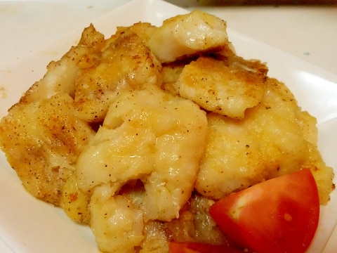 サッパリして美味しい冷凍真鱈の塩レモンバター焼き♪