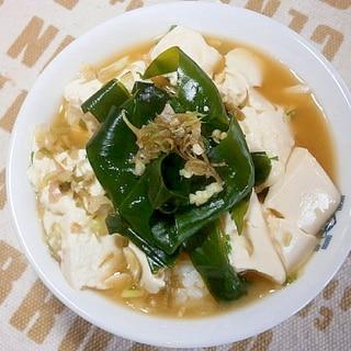 豆腐とわかめの冷汁