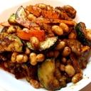 ズッキーニと大豆のカレー炒め