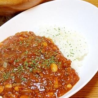 超簡単!!ひき肉と大豆のトマトカレー