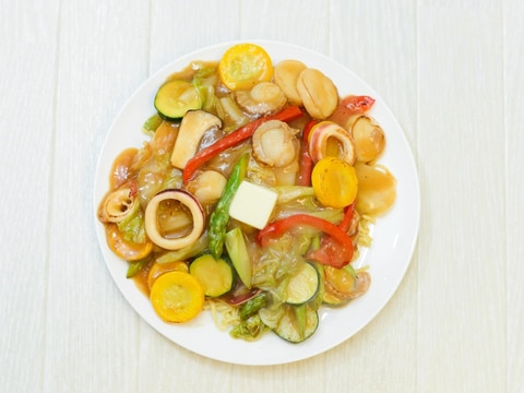 彩り野菜の味噌バター焼そば