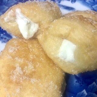 ミスドエンゼル風★ホイップクリーム入り揚げパン