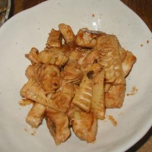 筍と塩麹鶏のコチュジャン炒め