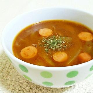 ビーフシチューのルーで簡単スープ