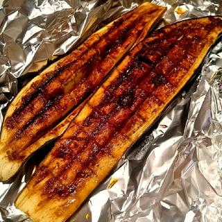 魚焼きグリルで♪ジューシー茄子のゆず味噌焼き