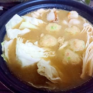 鍋つゆアレンジ!!味噌海鮮鍋