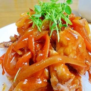 洋食屋さんの様なオシャレな酢豚丼♪♪