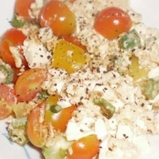 オクラとプチトマトのチャンプル