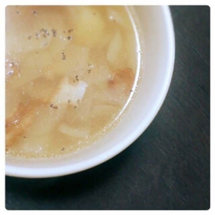 たまねぎたっぷり♪新じゃがスープ