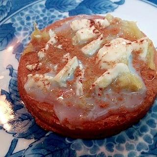 さつま芋とホワイトチョコとシナモンの太鼓せんべい