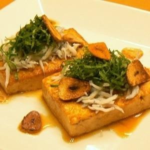 豆腐ステーキ★ガーリックポン酢でウマウマ