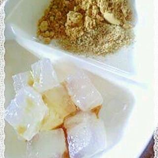 片栗粉で 5分混ぜ混ぜ わらび餅風 くず餅風