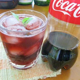 【コカ・コーラ】と☆手作り紫蘇ジュースのカクテル♪