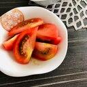 おつまみに☆トマトの柚子ごしょうオリーブオイル和え