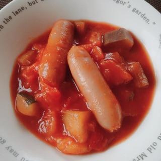 トマト缶と冷凍野菜のラタトゥイユ