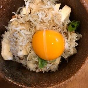 米水津湾のしらす納豆丼