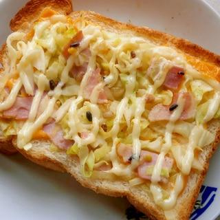 野菜炒め&チーズトースト