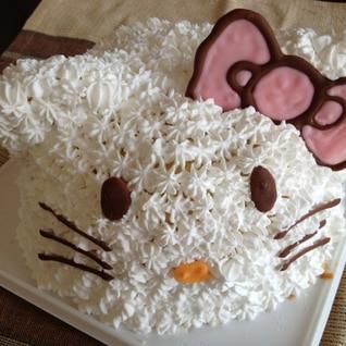 キティーちゃんの立体ケーキ