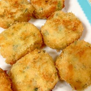 鮭とほうれん草のポテトコロッケ