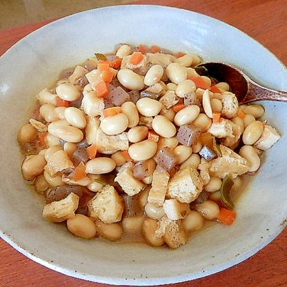 めんつゆで簡単五目豆