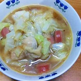 キャベツ鶏ももウインナの炒め煮/ケイジャン中華味