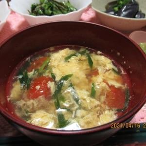 簡単~トマトと卵の中華スープ