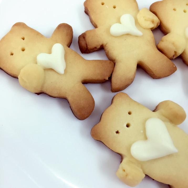 お返しに!ハート抱っこくまちゃんクッキー
