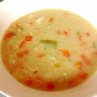 レンズ豆のミルクスープ
