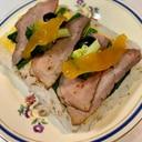 ローストビーフで ひな祭り押し寿司
