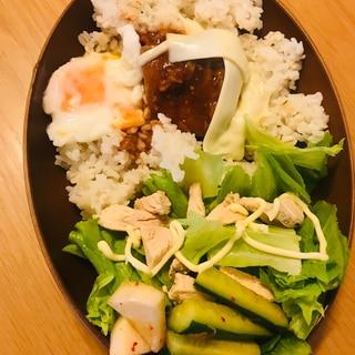 作り置きミートローフ ハンバーグのワンプレートご飯