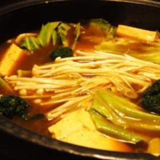 鶏胸肉で、和風カレー鍋