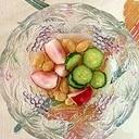胡瓜、ラディッシュ、ピーナッツの和え物