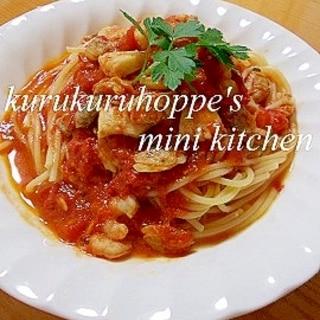 シーフードパスタ☆トマトソース