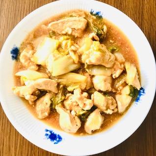 鶏胸肉と白菜のあんかけ風煮込み