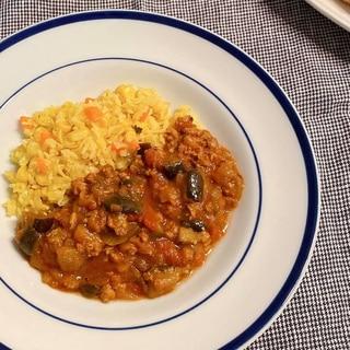 大豆ミートと茄子のキーマカレー